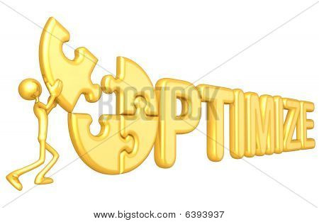 Gold Guy Optimize Concept