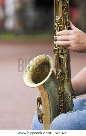 Sax On Knees