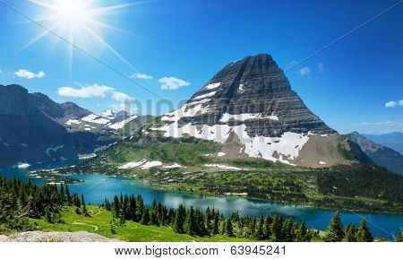 Hike in Glacier National Park,Montana poster