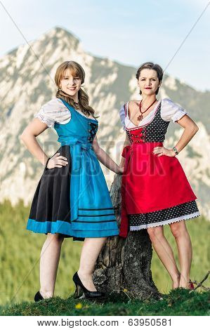 Austrian Women in the Alps