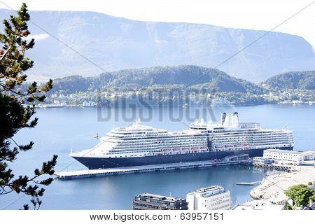 Cruise Ship in Alesund Norway