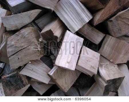 Split Poplar Tree Logs