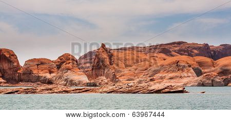 Rugged Lake Powell Rock Formations
