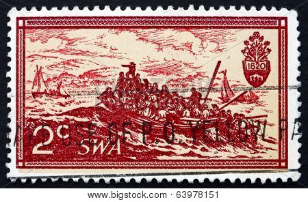 Postage Stamp South West Africa 1971 Landing Of British Setlers
