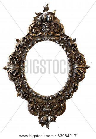 Isolated  Golden Handmade Frame