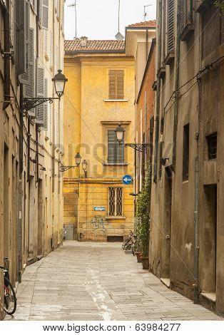 street scene reggio emilia italy