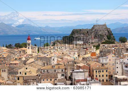Aerial View Of A Mediterranean Town