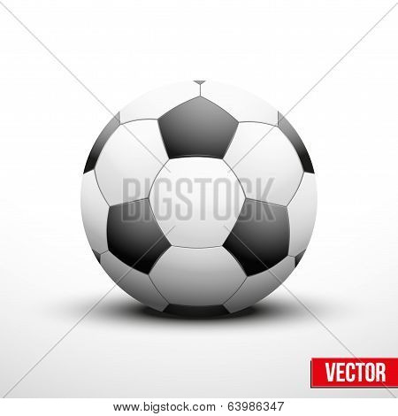 Soccer ball in the traditional two-tone colors