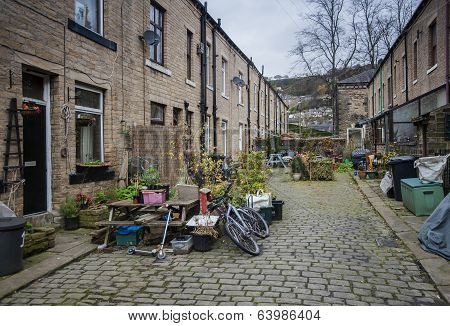 cobbled street Yorkshire