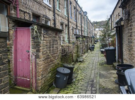cobbled back street