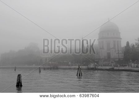 church in the mist