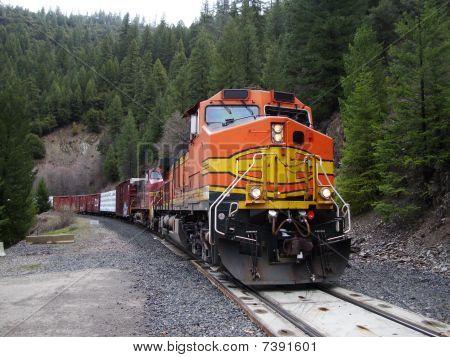 Mountain freight train