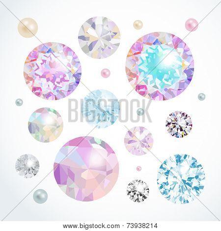 Vector gems set