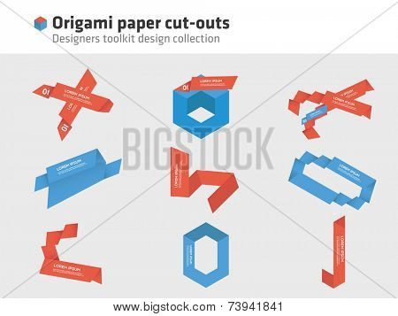 Origami - paper cut-outs