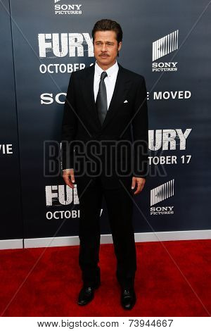 NEW YORK-OCT 15: Actor Brad Pitt attends the world premiere of