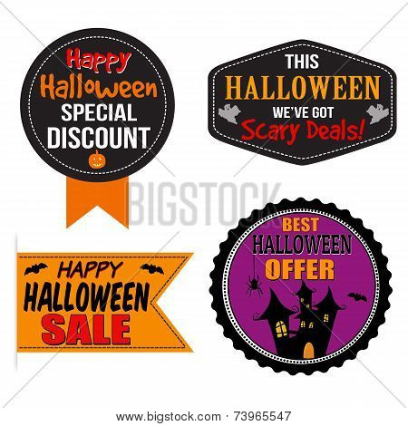 Halloween Sale Label, Sticker Or Stamps