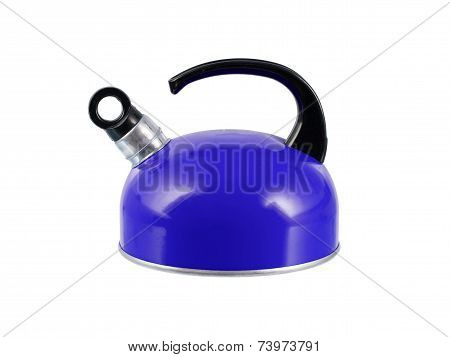 Blue Kettle Isolated
