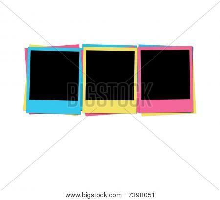 Blank Photos in Birthday Colors