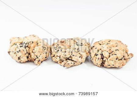 Healthy Cookies Isolated On White Background