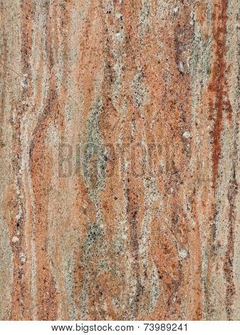 dark brown with beige red and gray striped patterned large smooth granite marble stone poster