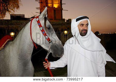 Arab Man with Arabian Horse