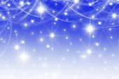smooth blue with white stars and bokeh background poster