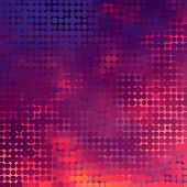 Sundown themed blurry background with circular grid poster