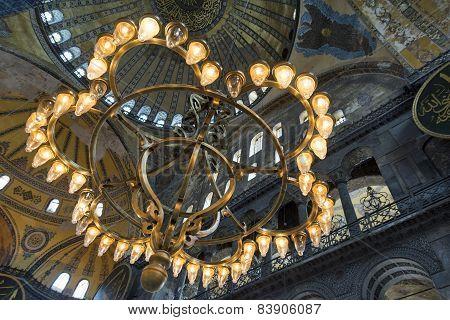 Chandelier Inside Aya Sofya, Istanbul, Turkey