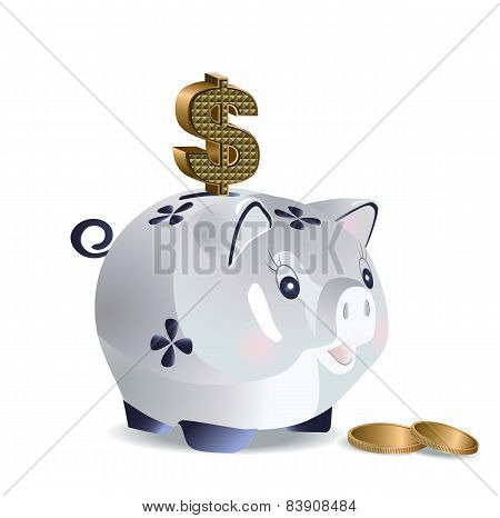 Dollar cash pig