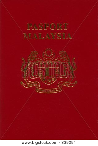 Isolated Malaysia Passport