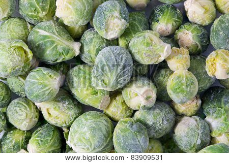 Bunch Of Frozen Sprouts