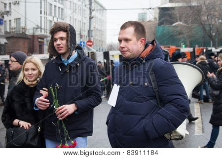 Politician Nikolay Lyaskin One Of Organizers Of Oppositional March Of Memory Of Boris Nemtsov