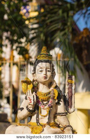 Sculpture on bronze of Shiva Nataraja or Mahesh
