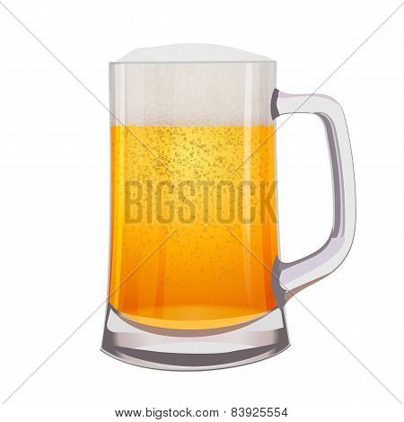 Excellent Isolated mug of beer. Vector illustration