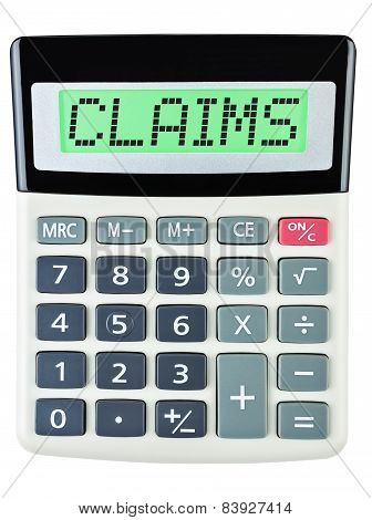 Calculator With Claims