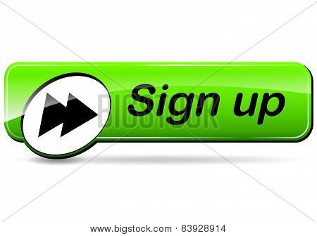 Sign Up Green Web Design Button