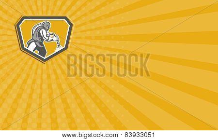 Business Card Sandblaster Sandblasting Hose Side Shield Retro