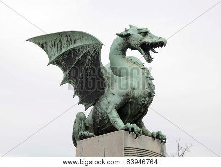 Dragon Statue In Ljubljana, Slovenia