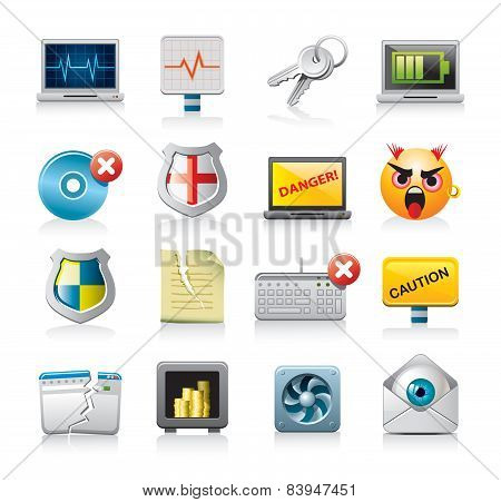 Computer security icons