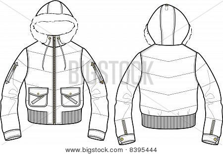 how to draw bomber jacket