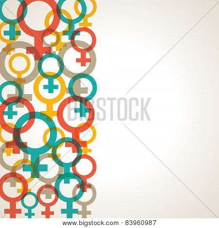 Retro Female symbol background stock vector