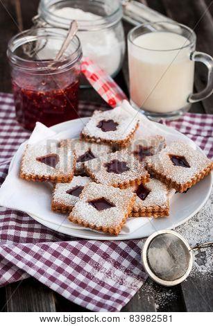 Homemade Linzer Cutout Cookies