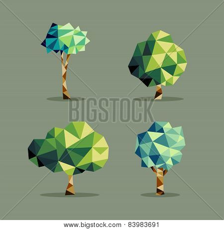 Abstract Triangle Tree Set