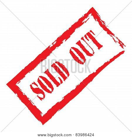 Vector red stamp sold out