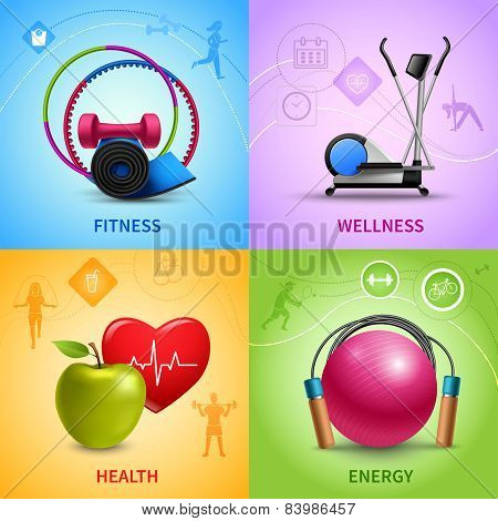 Fitness Icons Set