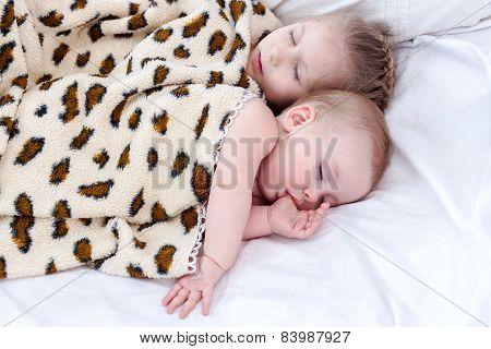 Two sleeping child