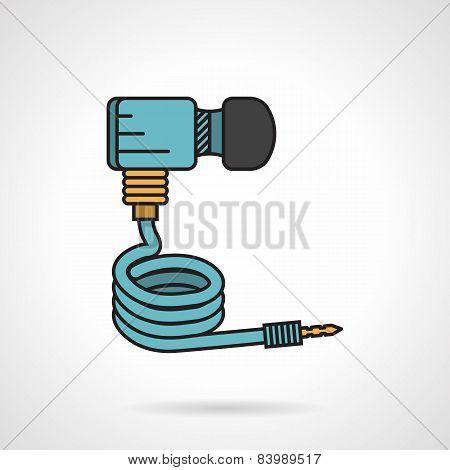 Paintball dioxide hose vector icon