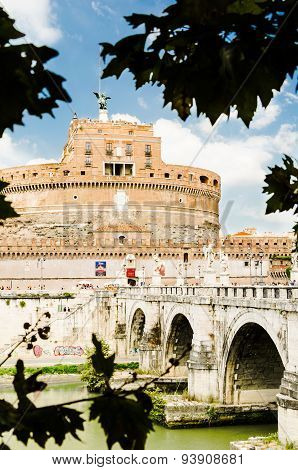 Sights Of Saint Angel Castel, The Old Residence Of Popes.city Of Vatican, Rome