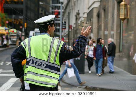 Traffic Policeman in New York