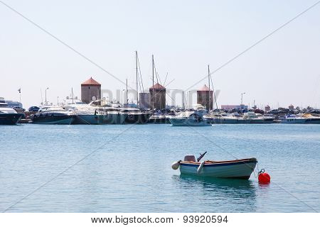 Harbour At Rhodes, Dodecanese, Greece